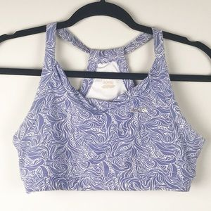 Reebok Large sport bra purple printed